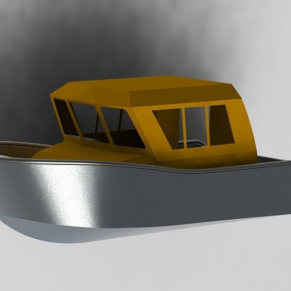 Aluminium boat with cabin 6 meters