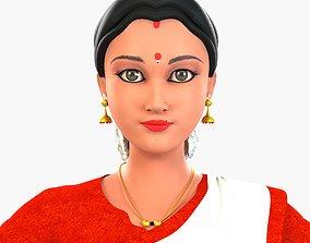 3D Indian Lady Character Ausmita