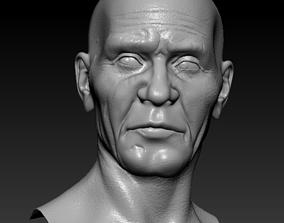 Low poly Oldman 3D model