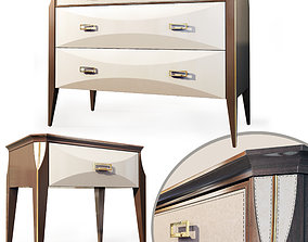 3D Nightstand dresser Contemporary by Ceppi Style