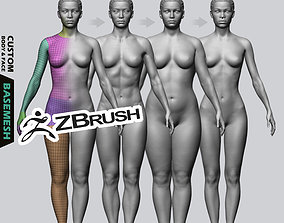 Female Custom Basemesh 3D model