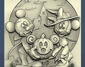 3d STL model for CNC Mickey Mouse and Mini Halloween