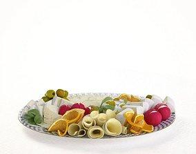 Decorative Appetizer Plate 3D