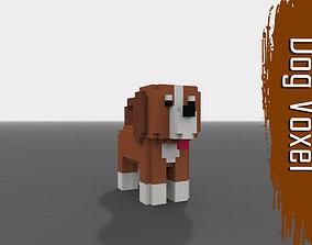 Voxel Dog 3D asset
