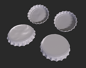 drink Bottle Cap 3D Model - High Poly - Set of two