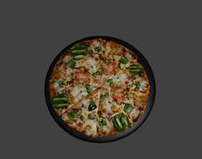 vegetable other pizza 3d model