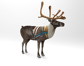 Reindeer Rigged Game Ready 3D model