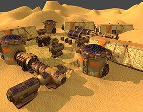 3D asset Mars colony-200 constructor