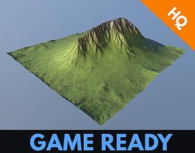 3D asset Mountain Game Ready Modular Low Poly Model 4