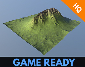 3D asset Mountain Game Ready Modular Low Poly Model 4