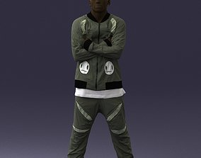 3D model Dark-skinned man in a tracksuit 0349