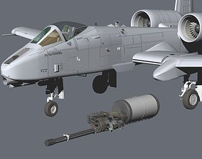 USAF Fairchild Republic A-10C Thunderbolt II Warthog 3D