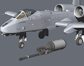 3D USAF Fairchild Republic A-10C Thunderbolt II Warthog