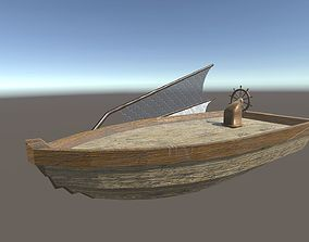 Space Boat 1 Fishing Boat 3D asset realtime