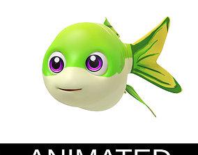 3D model Apollo Shark Minnow Fish Cartoon Style