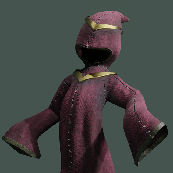 wizard - stylized magic cloak
