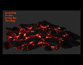 Lava Rock 3D asset VR / AR ready
