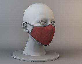 Reusable medical mask 3D asset