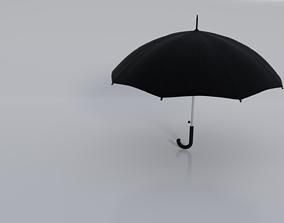 Black umbrella 3D