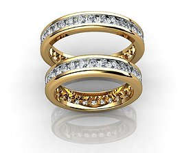 3D print model Gold Wedding Ring With Diamonds