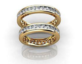 3D print model Gold Wedding Ring With Diamonds