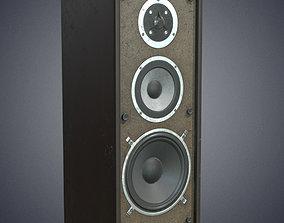 3D asset Audio speaker retro