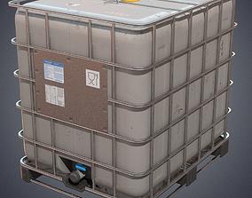 Liquid tank container 3D model