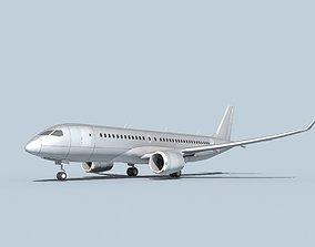 3D model Bombardier CS100 Bare Metal