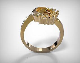 3D print model Jewelry Golden Round Design Ring