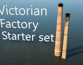 10pc Victorian Factory Starter Set 3D asset