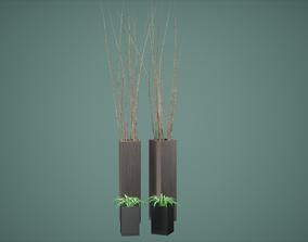 Decor Pot Set Low Poly Game Ready 3D asset