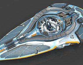 3D asset Starship