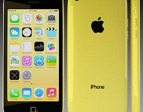 Apple iPhone 5c Yellow 3D