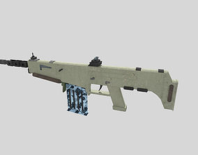 no brand low poly assault rifle 3 3D model