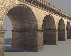 3D model Arched stone bridge architecture