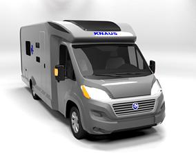 3D model KNAUS CAMPER LOWPOLY