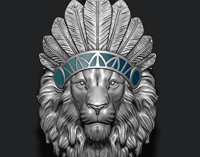 Native lion pendant 3D printable model