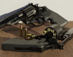 Revolver Magnum Pistol Trr8 357 caliber 3D asset