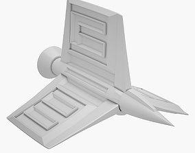 3D asset Lowpoly Sci-fi Ship 02