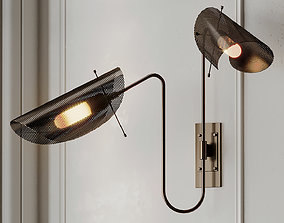 3D Tulle 2 Wall Lamp in Bronze by Blueprint Lighting