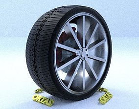 3D model ORTAS CAR RIM 6 GAME READY RIM TIRE AND DISC