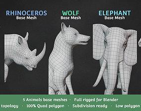 3D model Base Meshes Animal Starter Kit 1