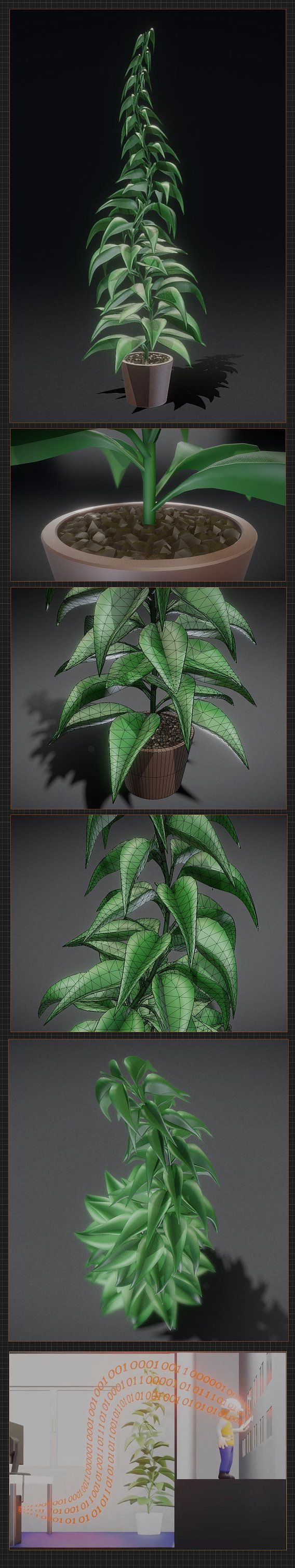 Office Plant 1 Free 3D model High-Poly Blender-2.90.1