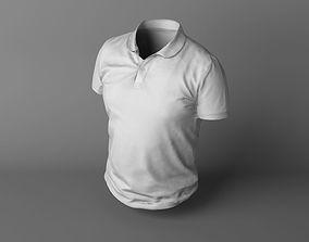 White T-shirt 3D asset