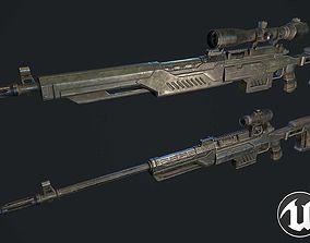 3D asset VR / AR ready Sniper rifle