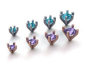 Package of 8 Ring Heads printable 3dmodels
