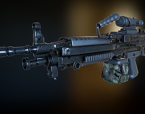 3D model M249 machine gun