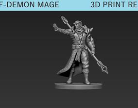 3D print model Half Demon Mage Miniature