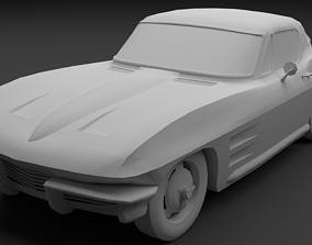 3D model 1964 Chevrolet Corvette C2 StingRay lowpoly