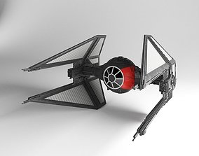 TIE-Interceptor First Order Star Wars 3D model